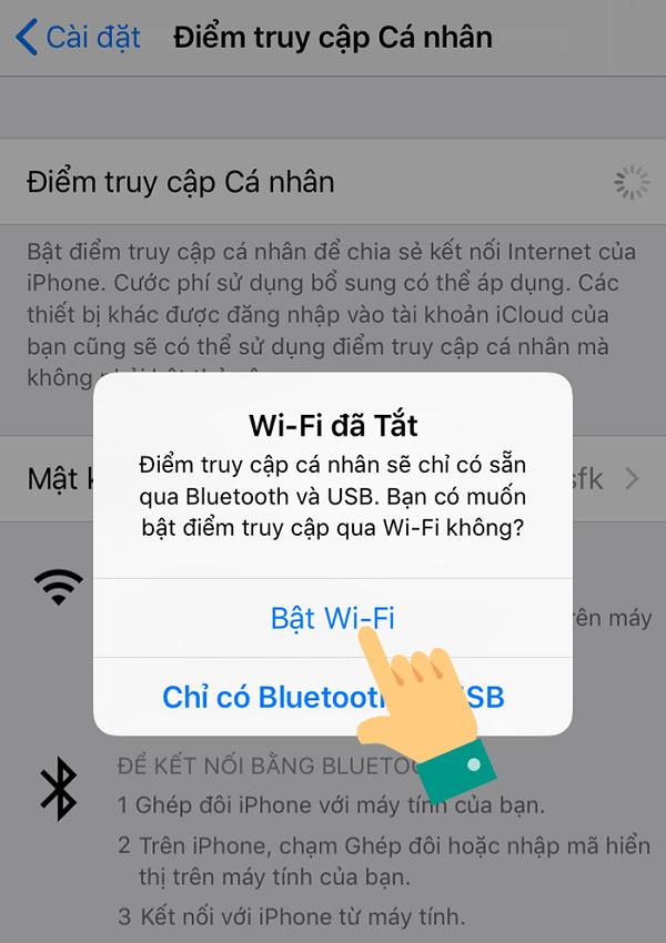 cach phat wifi tu iphone xs max buoc 2