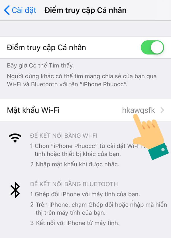 cach phat wifi tu iphone xs max buoc 3