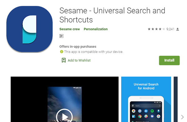 Sesame Search