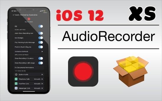 Ứng dụng AudioRecorder XS dành cho iPhone đã từng Jailbreak trước đó