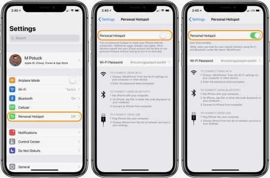 iPhone không bật được điểm truy cập cá nhân