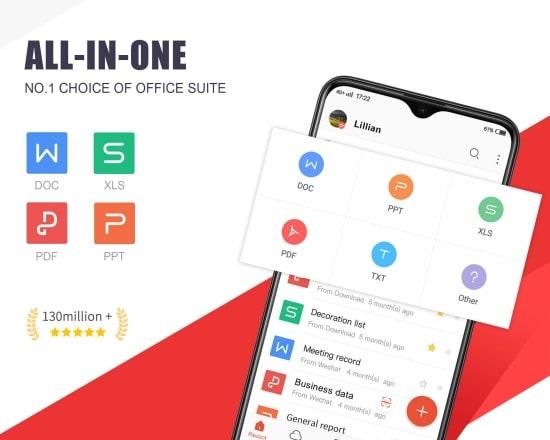 Ứng dụng WPS Office là một phần mềm đọc tất cả các file cho Android