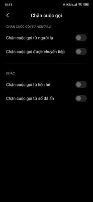 Chặn cuộc gọi ngoài danh bạ trên Xiaomi